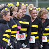 Salem:  A group of friends all dressed as bees for the Witch City 5K road race.  photo by Mark Teiwes / Salem News