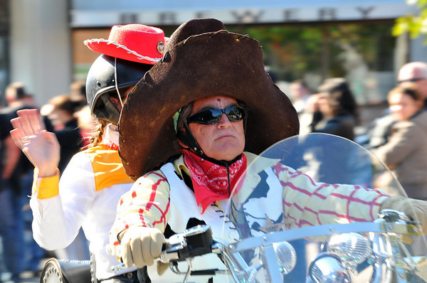 Salem:  Many riders came dressed in costume for the Halloween Witch Ride. photo by Mark Teiwes / Salem News