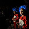 Salem:  Jayza, left, and Jayvien Francisco, both 3, dress as Thing 1 and Thing 2 form Dr. Seuss.