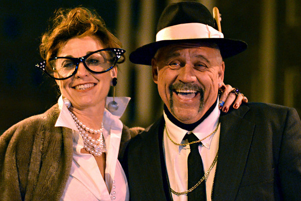 Saturday night scenes Halloween weekend in Salem:  Renee Moses, left and Ronnie Marineau, both of Ipswich.    photo by Mark Teiwes / Salem News.
