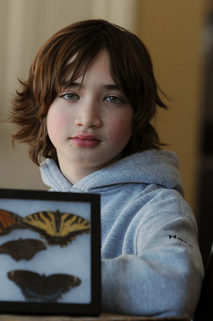 Ipswich:<br /> Nathan Dubrow, of Ipswich, recently received the Mass Audubon Young Naturalist Award.<br /> Photo by Ken Yuszkus/Salem News, Friday, February 4, 2011.