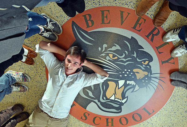 NS100: Jake Levine worked hard on changing the school's logo.  photo by Mark Teiwes