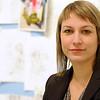 Beverly:<br /> Leonie Bradbury, Head Curator, Montserrat Galleries<br /> Photo by Ken Yuszkus/Salem News, Monday, January 24, 2011.