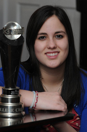 Danvers:<br /> Erin McLean won the 2010 Jeopardy! College Championship.<br /> Photo by Ken Yuszkus/Salem News, Tuesday, February 1, 2011.