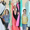 Ipswich: Ipswich High School juniors Paige Sirois, left, Alex Sulkin, and Morgan Riddle organized prom dress resale fundraiser to benefit the Lazarex Cancer Foundation. photo by Mark Teiwes  / Salem News