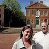 Salem: Salem Jazz and Soul festival organizers, Laura Gallant and Matt Caruso, outside of the Old Town Hall. Photo by Mark Lorenz/Salem News<br /> l, Salem: Salem Jazz and Soul festival organizers, Laura Gallant and Matt Caruso, outside of the Old Town Hall. Photo by Mark Lorenz/Salem News<br /> l