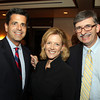 Salem: From left, Former State Senator Steve Baddour, of Methuen, Karen Andreas, Publisher of The Salem News and North of Boston Media Group, and Mark Pearlstein, on Thursday evening during a cocktail hour prior to the start of a dinner held at the Kernwood Country Club by the Anti-Defamation League of New England to honor District Attorney Jonathan Blodgett. David Le/Salem News