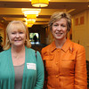 Danvers:<br /> Suzanne Schneider of The MEGA Group, Inc., left, and State auditor Suzanne Bump, attended the North Shore Chamber breakfast. State auditor Suzanne Bump was the main speaker at the event.<br /> Photo by Ken Yuszkus, The Salem News, Wednesday, October 02, 2013.