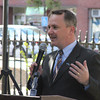 Lt. Gov. Tim Murray speaks during the Main Street Corridor Realignment project groundbreaking ceremony Oct. 16. Construction on the first phase of the project is already under way. <br /> Staff photo by Alan Burke