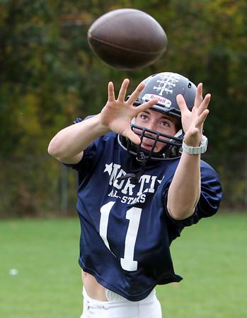 Middleton: North Shore Tech junior tight end and linebacker Matt Almon has been a major contributor for the 2013 Bulldogs. David Le/Salem News