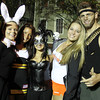 Salem: From left, Salem State University students Heidi Holloway, Brianna D'Alessandro, Taylor D'Elia, Bianca Carlson, and Colton Fontaine pose for a photo in downtown Salem on Halloween night. David Le/Salem News
