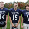 Middleton: North Shore Tech sophomore Mike Nuernberg (FB/LB), sophomore Paul Lazzaro (CB/WR), and junior Matt Almon (TE/LB). David Le/Salem News