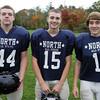 Middleton: North Shore Tech sophomore Mike Nuernberg (FB/LB), sophomore Paul Lazzaro (CB/WR), and junior Matt Almon (TE/LB). David Le/Salem News