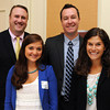 Danvers:<br /> Members of the North Shore Chamber of Commerce, front, Michelle Sacco, left, who is an intern at Salem State University, and Danielle Brazill, back, Erik Smith, left, and Stephen Crowder, attended the North Shore Chamber breakfast. State auditor Suzanne Bump was the main speaker at the event.<br /> Photo by Ken Yuszkus, The Salem News, Wednesday, October 02, 2013.