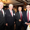 Salem: From left, Tom Alexander, Jack Good, George Atkins, and Steve Immerman, on Thursday evening during a cocktail hour prior to the start of a dinner held at the Kernwood Country Club by the Anti-Defamation League of New England to honor District Attorney Jonathan Blodgett. David Le/Salem News