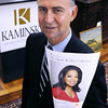Beverly:<br /> Auctioneer Frank Kaminski of Kaminski Auctions, which is handling an auction for Oprah Winfrey next month in California.<br /> Photo by Ken Yuszkus, The Salem News,  Friday, October 11, 2013.