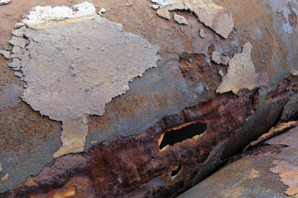 Salem:<br /> Holes are evident in the sewer pipes that were replaced because they were leaking. <br /> Photo by Ken Yuszkus, The Salem News,  Tuesday, October 08, 2013.