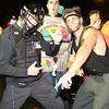 Salem: Salem State University students Alex Toomey, Bill O'Connor, and Colton Fontaine, enjoy the Halloween Festivities in downtown Salem on Thursday evening. David Le/Salem News