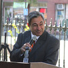 State Rep. Ted Speliotis, who represents a portion of Peabody, speaks Oct. 16 during the city's official groundbreaking for the Main Street Corridor Realignment project. <br /> Staff photo by Alan Burke