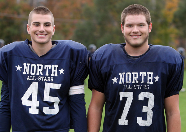 Middleton: North Shore Tech seniors Luke Popolowski (DE/OL) and Charles Self (OL/DT). David Le/Salem News