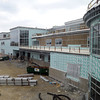 Danvers:<br /> Construction continues on the back of the main building of the $133 million Essex Tech High in Danvers.<br /> Photo by Ken Yuszkus, The Salem News,  Thursday, October 17, 2013.