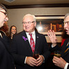 Salem: District Attorney Jonathan Blodgett, center, talks with Jake Segal, right, and Mark Pearlstein, on Thursday evening prior to the start of a dinner held at the Kernwood Country Club by the Anti-Defamation League of New England to honor Blodgett. David Le/Salem News