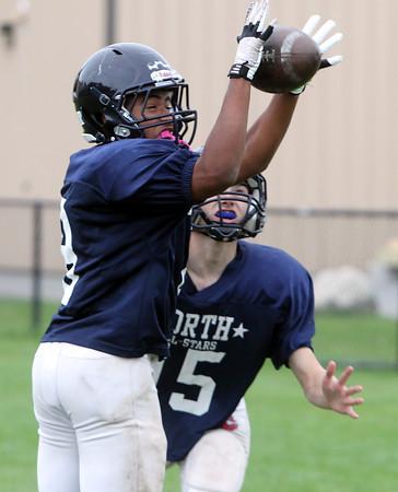 Middleton: North Shore Tech junior cornerback Ricky Valenzuela picks off a pass. David Le/Salem News