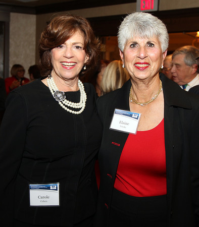 Salem: Carole Cohen and Elaine Linsky on Thursday evening during a cocktail hour prior to the start of a dinner held at the Kernwood Country Club by the Anti-Defamation League of New England to honor District Attorney Jonathan Blodgett. David Le/Salem News