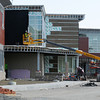 Danvers:<br /> Construction continues on the front of the main building of the $133 million Essex Tech High in Danvers.<br /> Photo by Ken Yuszkus, The Salem News,  Thursday, October 17, 2013.