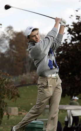 Georgetown:<br /> James Turner of St. John's Prep at the Division 1 golf championship held at the Black Swan Country Club in Georgetown.<br /> Photo by Ken Yuszkus / The Salem News, Monday, October 28, 2013.