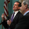Beverly: Beverly Mayor candidate Mike Cahill answers questions to a room full of people at the Cove Community Center on Thursday evening. David Le/Salem News