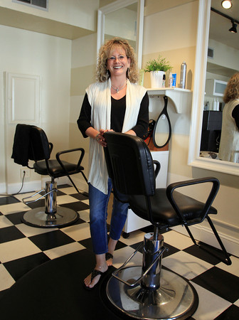 Marblehead: Lisa Buswell, owner of Boston Hair Salon on Pleasant St in Marblehead, saved one of her elderly client's lives by calling her home and having someone check in on her after she missed her weekly appointment. David Le/Salem News