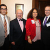 Salem: From left, Mac Moccia, Bob Holloway, Kevin Burke, and Marsha Kazarosian, on Thursday evening during a cocktail hour prior to the start of a dinner held at the Kernwood Country Club by the Anti-Defamation League of New England to honor District Attorney Jonathan Blodgett. David Le/Salem News