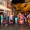 Salem: A dance circle formed along Essex St. in Salem as Halloween-goers danced along to drums on Thursday evening. David Le/Salem News