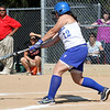 Danvers: Danvers High School Senior Leftfielder, Hannah Demirdogen, smashes a base hit against Saugus, in the Division 2 North state tournament game held on Friday afternoon which Danvers won 8-0. Photo by David Le/Salem News