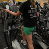 Ipswich: Danielle Doucette of Ipswich uses the step machine in the weight room of the Ipswich Family YMCA. Photo by David Le/Salem News