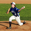 Danvers starting pitcher Brandon Hyde fires a strike against St. John's Prep on Saturday evening at Twi-Field in Danvers. David Le/Staff Photo