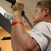 Ipswich: Paul Van Schyndel of Ipswich, does chin-ups in the weight room of the Ipswich Family YMCA on Wednesday afternoon. Photo by David Le/Salem News