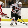 Beverly's Andrew Irving rips a shot on the Saugus goaltender for a goal on Wednesday night. David Le/Staff Photo
