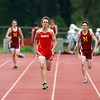 Masco's Cam Hebert breaks away from the rest of the field on the last straight to win the 400 in a school record time of 49.7 on Wednesday afternoon. David Le/Staff Photo