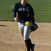 Swampscott pitcher Angela Vousboukis delivers a strike against Danvers on Friday afternoon.  David Le/Staff Photo