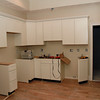 An unfinished kitchen unit in one of twelve new condos in The Melba building, which was devastated by a fire almost a year ago. David Le/Staff Photo