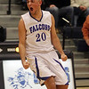 Danvers guard Mike Scarfo (20) celebrates his game-tying three point shot with seconds left in the Falcons' semi-final matchup against Wayland on Tuesday night. Danvers rallied late in the 4th quarter to force an overtime period and came out on top propelling them to the D3 North Final on Saturday. David Le/Staff Photo