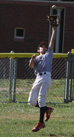 Middleton: Middleton Little League centerfielder RJ Libby hauls in a fly ball at practice on Wednesday afternoon. The Middleton LL team plays its first game on Saturday in hopes of making it all the way to Williamsport. Photo by David Le/Salem News