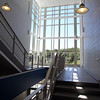 A stairwell in a new wing of Danvers High School. David Le/Staff Photo