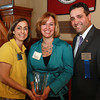 From left, Deanna Healey, President and CEO of Peabody Area Chameber of Commerce, Alyse Barbash, Recipient of the Mary Upton Ferrin Community Service Award and Robert Dionne Chairman of Peabody Area Chamber of Commerce. David Le/Staff Photo
