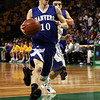 Danvers senior Jon Amico (10) cruises in for a layup against Wareham on Monday afternoon at the TD Garden. David Le/Staff Photo