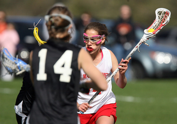 Masco's Zoe Cennani, right, looks to drive to the net against Beverly on Friday afternoon. David Le/Staff Photo