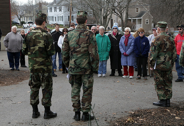 A large crowd gathered at St Mary of the Annunciation Cemetary in Danvers on Saturday morning for a Wreaths Across America presentation that was conducted by the Beverly Civil Air Patrol. David Le/Salem News