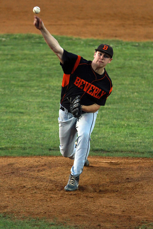 Beverly starting pitcher Cam Rogers fires a strike against North Andover on Thursday evening.David Le/Staff Photo
